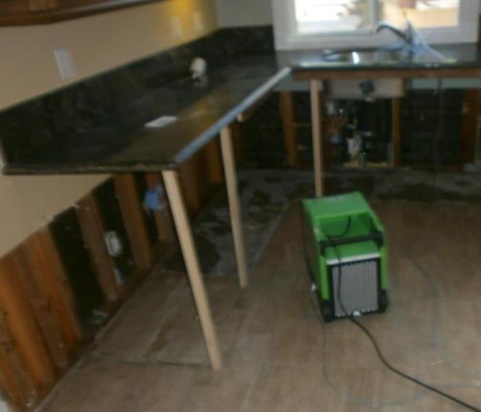 Water Damage Aspects of a Kitchen Demolition